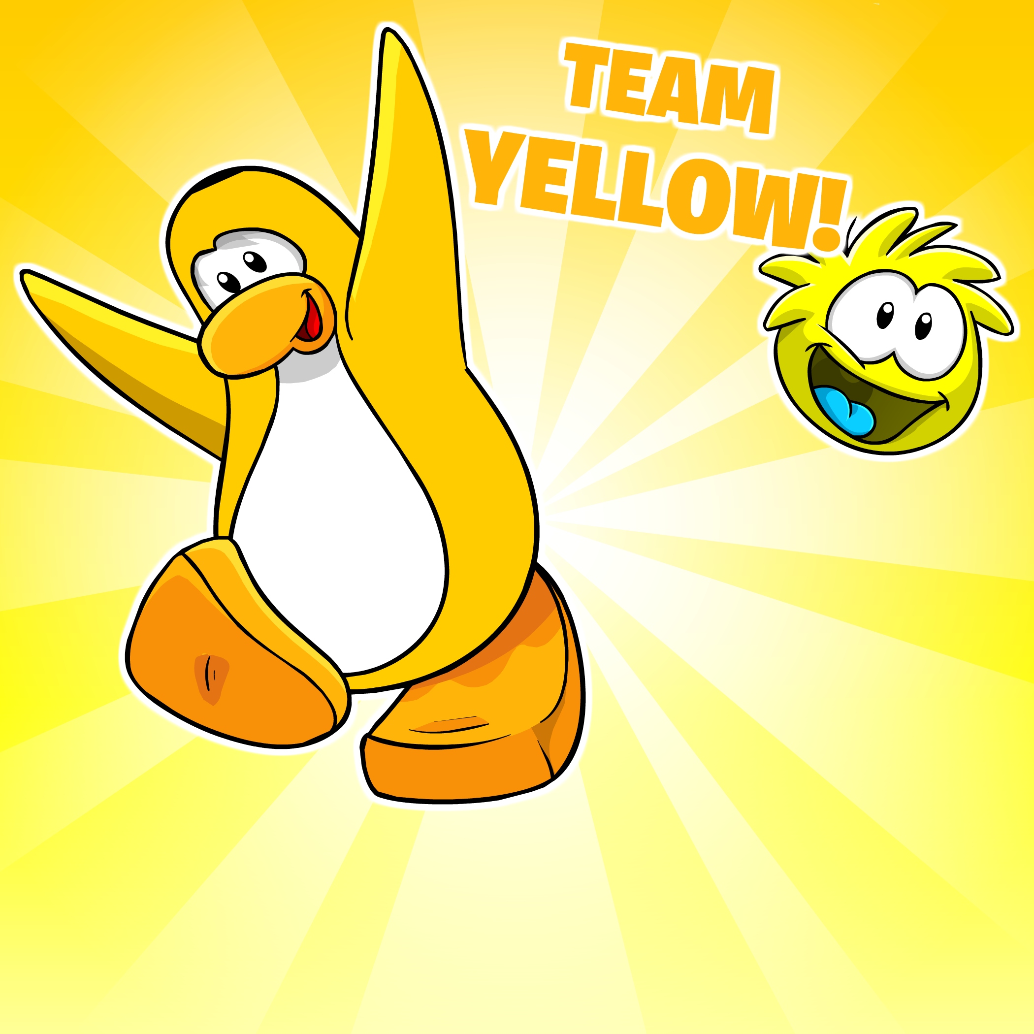 Go Yellow Background - Club Penguin Wiki - The free ...