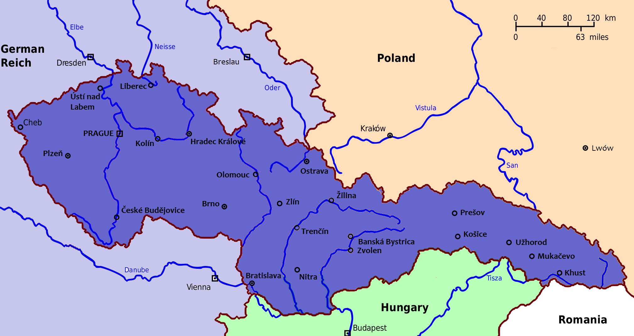 Czechoslovakia Map 1900