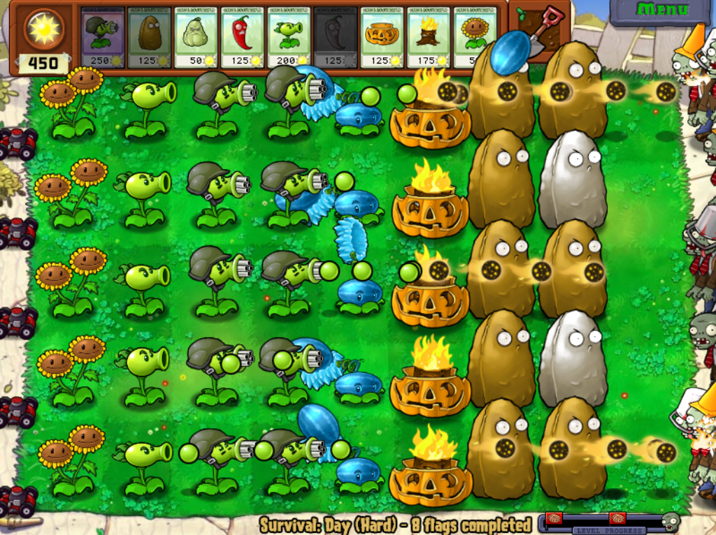 Survival Mode Plants Vs Zombies Wiki The Free Plants