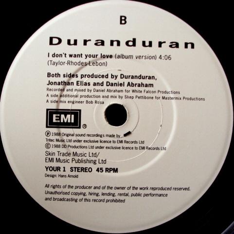love single uk YOUR 1 duran duran band discography discogs wikipedia 3