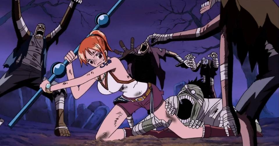One Piece Nami En El Baño:garden de pellona pero se salvo de su furia asegurandole a la chica