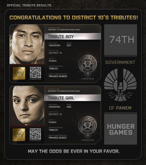 Hunger Games District 10 Tributes