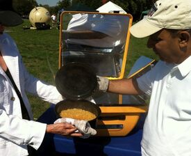 TIDES solar cooking exhibit 10-11, 2