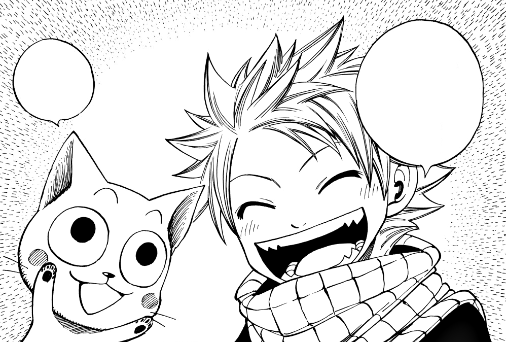 Natsu and the dragon egg chapter fairy tail wiki the - Fairy tail happy and natsu ...