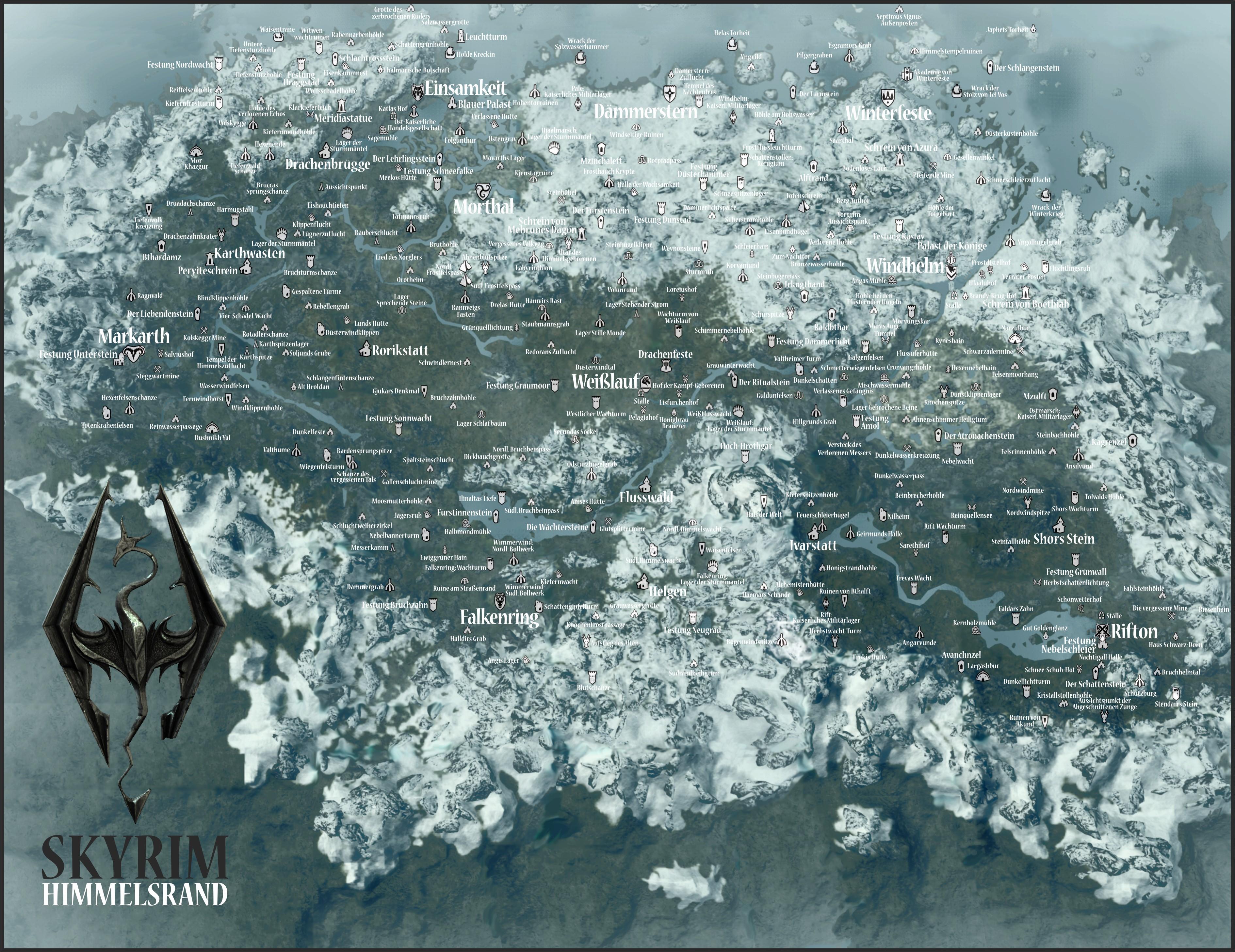 Skyrim Komplette Karte