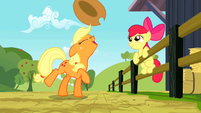 Applejack flipping her hat up S2E14