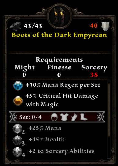 Boots of the Dark Empyrean - Amalur Wiki