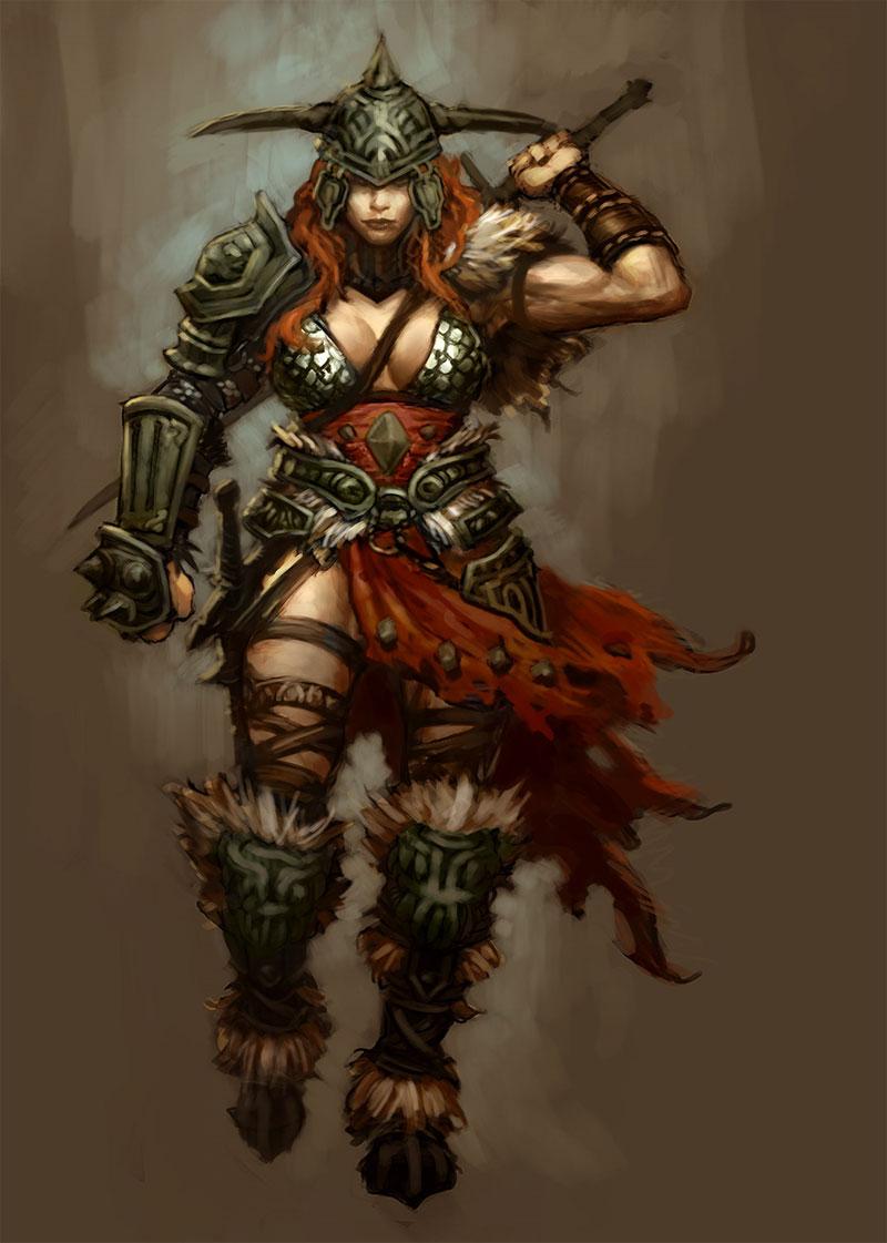 Astartes, los Guerreros Perfectos Female_Barbarian