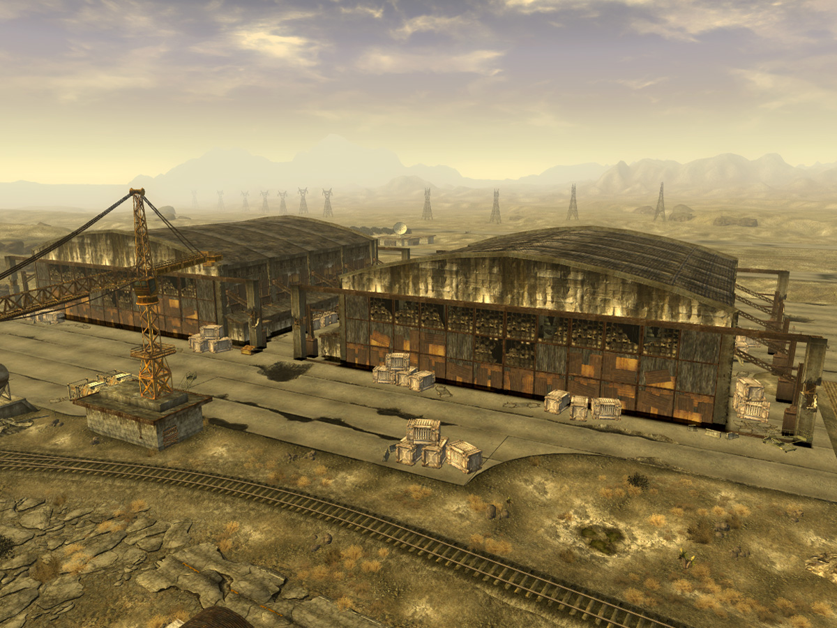 Nellis Hangars The Fallout Wiki Fallout New Vegas And