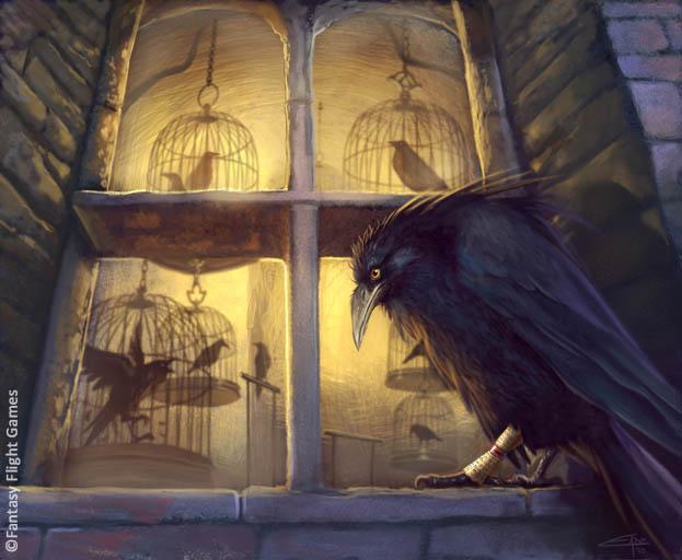 Cuervos para Kevan Lannister Oldtown_Raven_by_Caroline_Eade,_Fantasy_Flight_Games%C2%A9