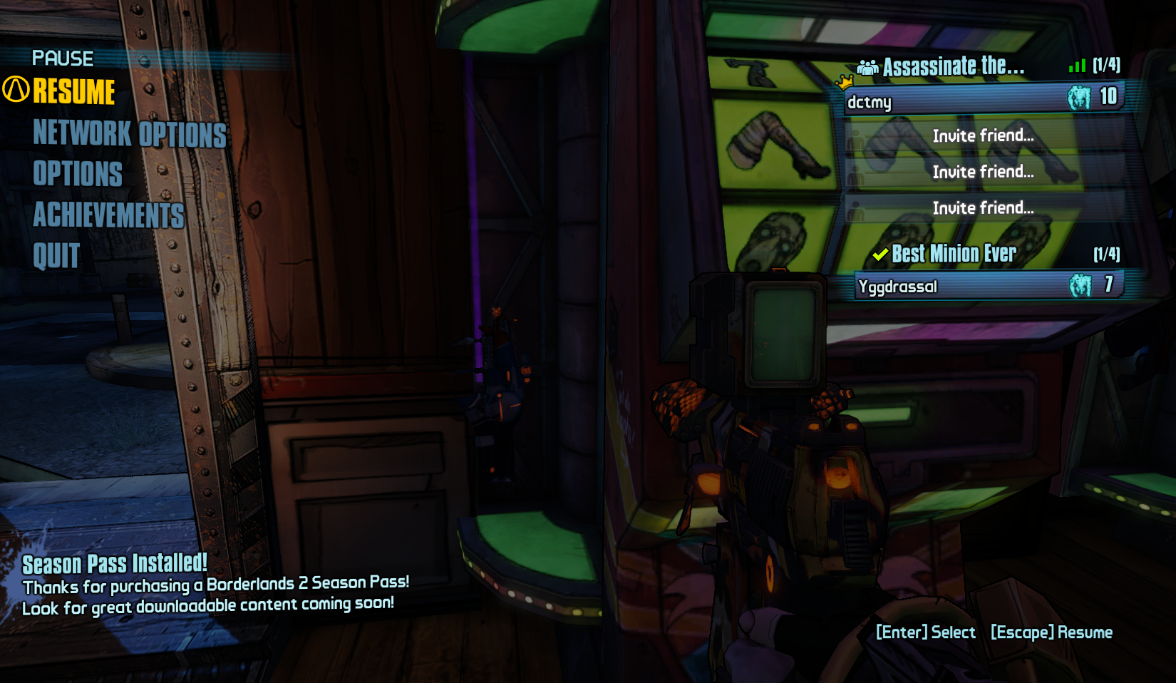 Unlock fourth weapon slot borderlands 2
