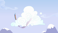 Rainbow Dash flying around cloud 2 S3E7
