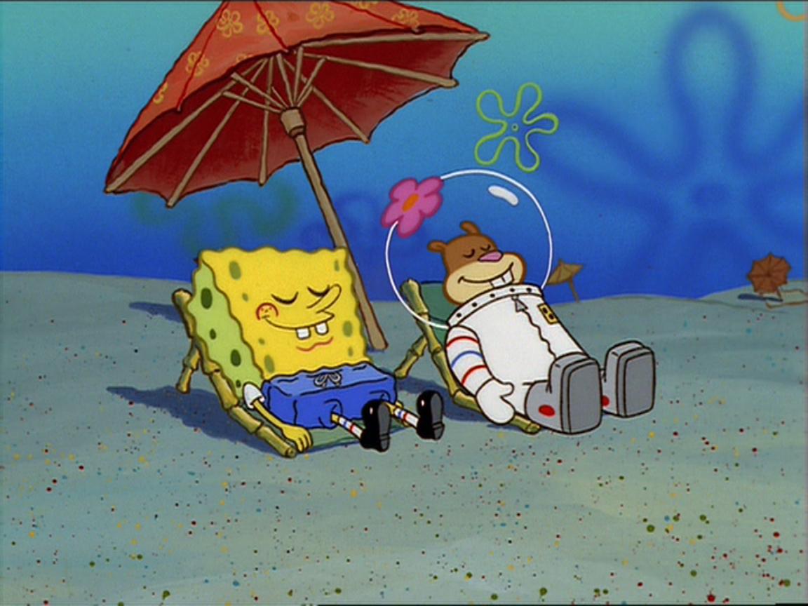 Image - Spongebob and sandy sunbathing.jpg - Encyclopedia