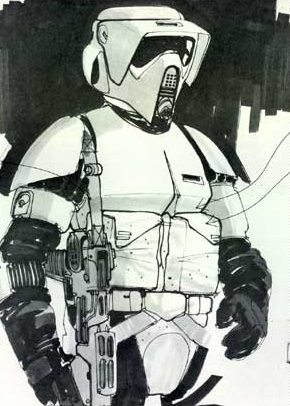 scout stormtrooper motorcycle helmet  Concept art of a