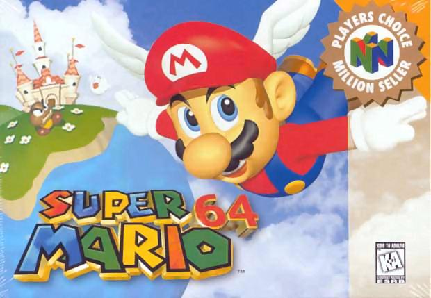 Mario a través del tiempo. Super_Mario_64_Portada