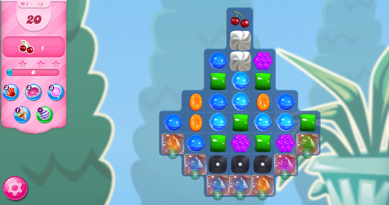 Candy Crush Saga Level 76 Solution