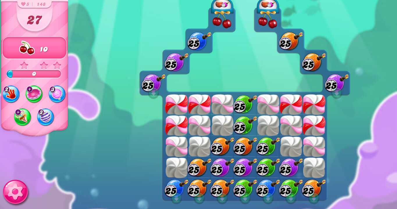 Level 148 board (Click to zoom)