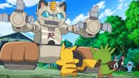 ¡¡Chespin VS Mega-Mega-Meowth!!