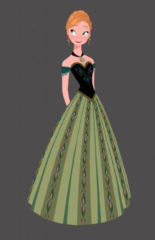le vert peut sembler redondant cest aussi la couleur de tiana et mrida sans parler du turquoise en usage pour jasmine et ariel - Robe Anna Reine Des Neiges