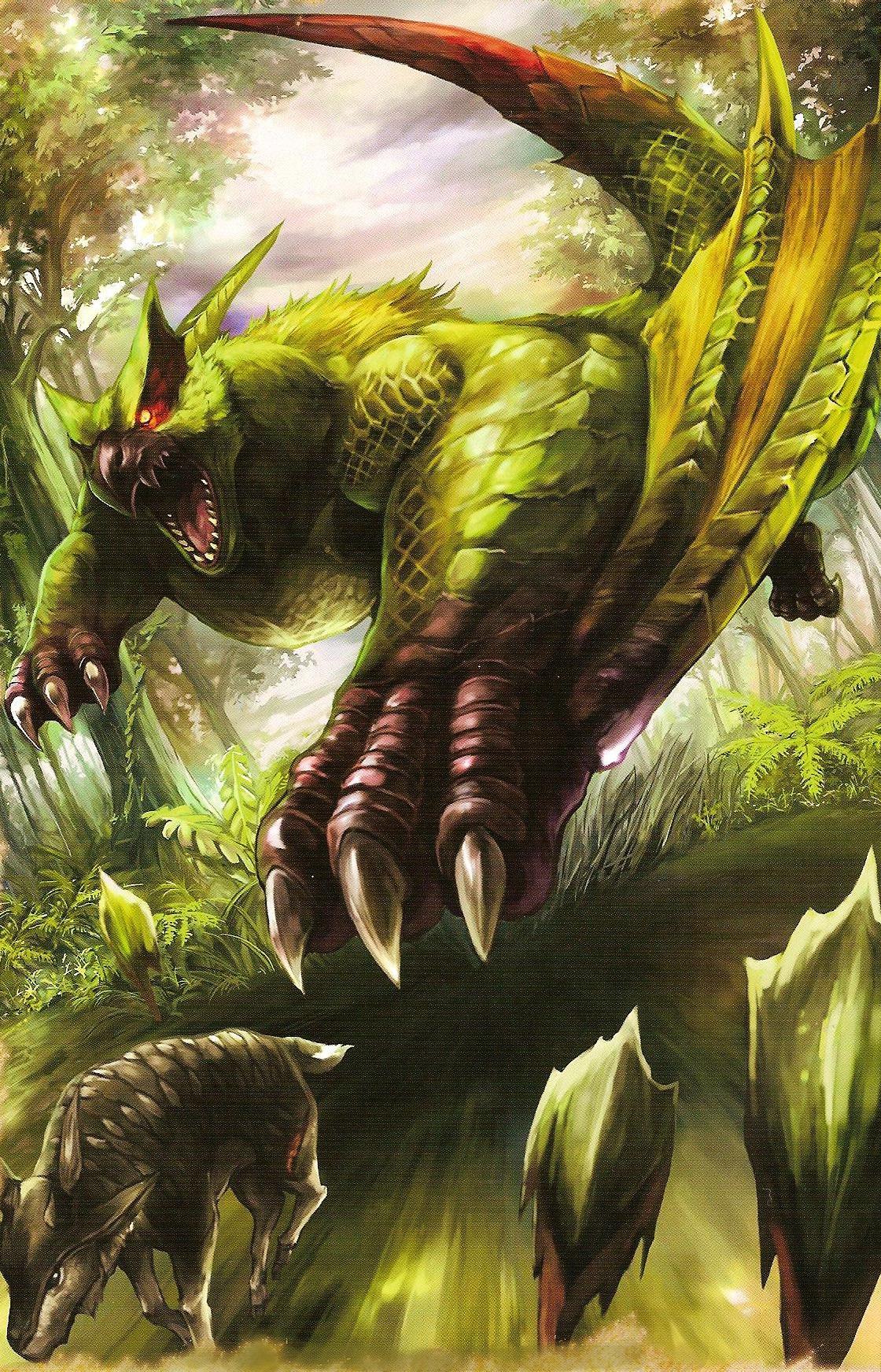 Green Nargacuga - The Monster Hunter Wiki - Monster Hunter